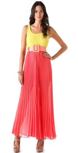 alice + olivia Leila Pleated Jumpsuit
