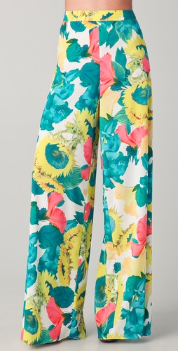 alice + olivia Print Wide Leg Pants