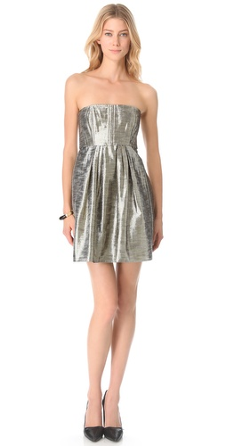 alice + olivia Ashley Metallic Dress