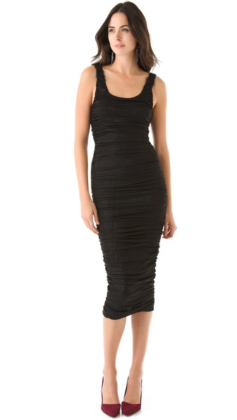alice + olivia Vanna Ruched Dress