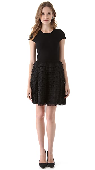 alice + olivia Colette Ruffle Dress