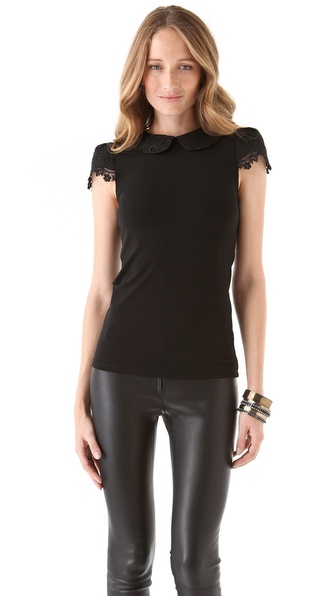 alice + olivia Luiza Collar Top