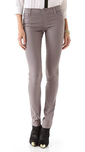 alice + olivia Waxed Skinny Jeans
