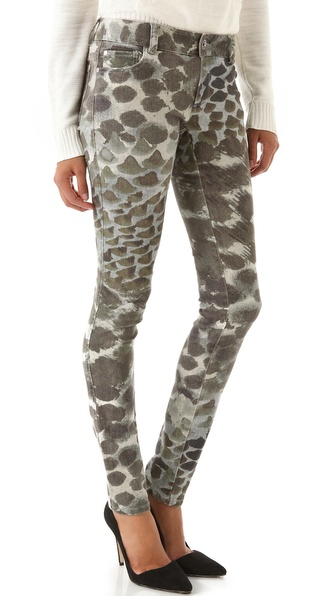 alice + olivia Print Skinny Jeans