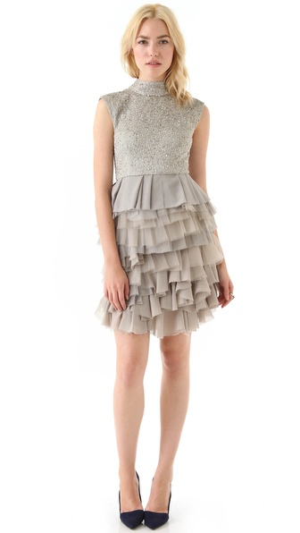 alice + olivia Hattie Sequin Dress