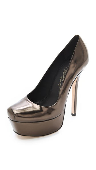 alice + olivia Larimore Mirrored Pumps