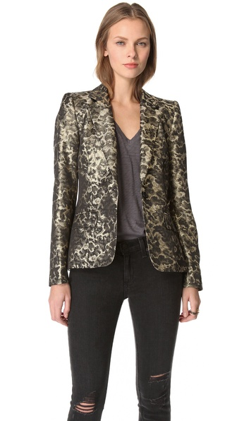 alice + olivia Metallic Elyse Blazer