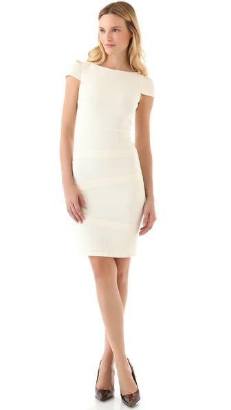 alice + olivia Birch Boat Neck Dress