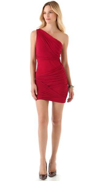 alice + olivia One Shoulder Goddess Dress