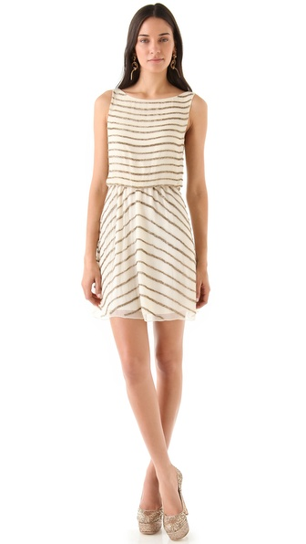 alice + olivia Giselle Beaded Dress