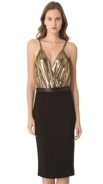 alice + olivia Metallic Ballerina Bodysuit