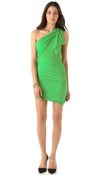 alice + olivia One Shoulder Drape Dress