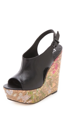 alice + olivia Sonia Splatter Paint Wedges at Shopbop.com