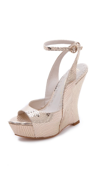 alice + olivia Denny Wedge Sandals