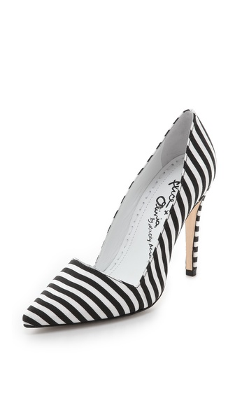 alice + olivia Dina Striped Pumps