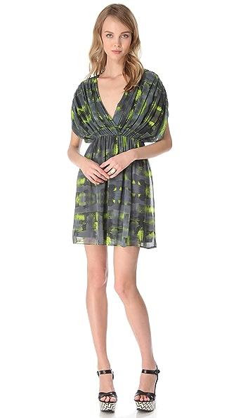 alice + olivia Eileen Drop Shoulder Dress