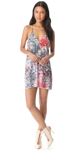 alice + olivia Print Fierra Y Back Dress