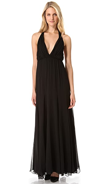 alice + olivia Alberta Long Halter Dress