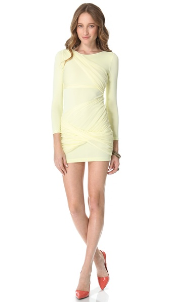 alice + olivia Long Sleeve Goddess Dress