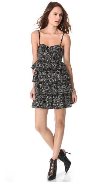 alice + olivia Corsette Ruffle Dress