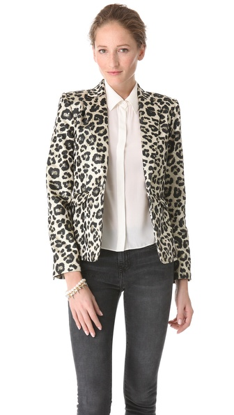 alice + olivia Leopard Elyse Blazer
