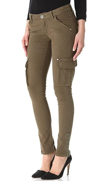 alice + olivia Washed Skinny Cargo Jeans