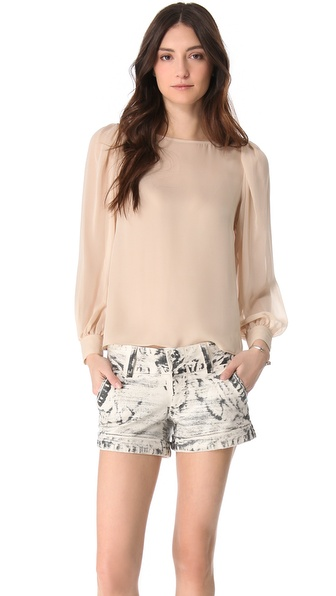 alice + olivia Blouson Sleeve Blouse
