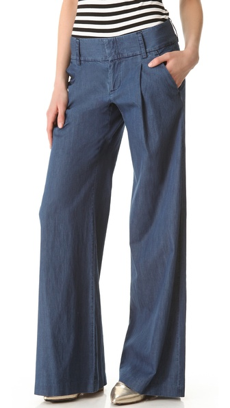 alice + olivia Eric Denim Trousers