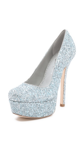 alice + olivia Larimore Glitter Pumps