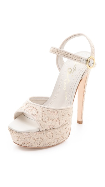 alice + olivia Lena Macrame Platform Sandals