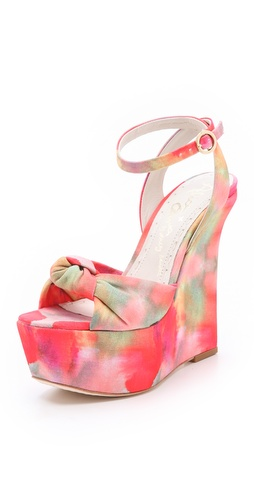 Shop alice + olivia Ilise Knot Print Sandals - alice + olivia online - Footwear,Womens,Footwear,Sandals, at Lilychic Australian Clothes Online Store
