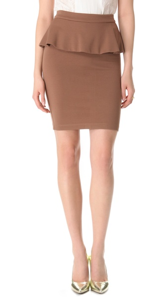 alice + olivia Natasha Peplum Skirt