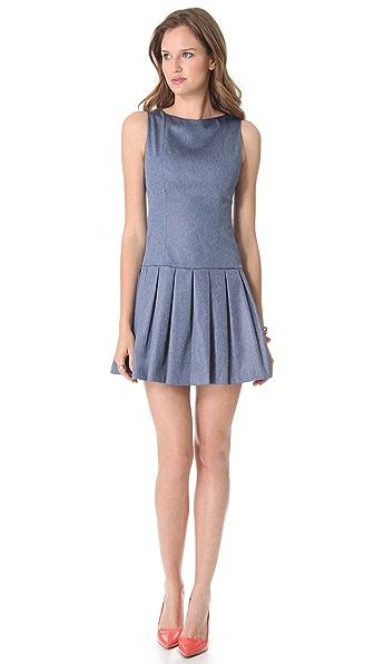 alice + olivia Drop Waist Chambray Dress
