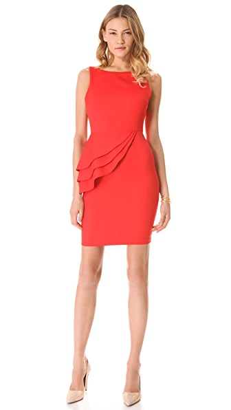 alice + olivia Spelling Side Peplum Dress