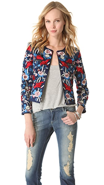 alice + olivia Embroidered Box Jacket