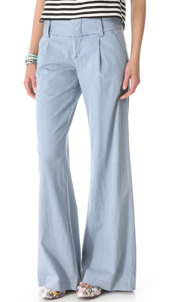 alice + olivia Chambray Eric Pants