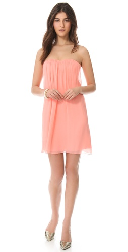 alice + olivia Center Drape Strapless Dress