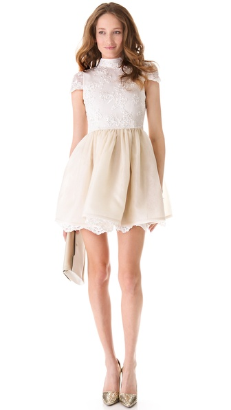 alice + olivia Lace Bodice Party Dress from shopbop.com