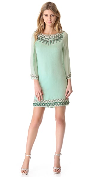 alice + olivia Embellished Bell Sleeve Dress