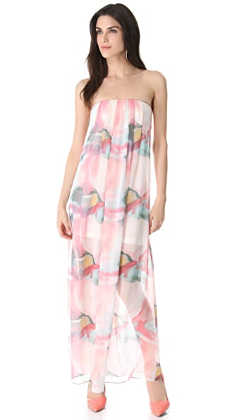 alice + olivia Strapless Maxi Dress