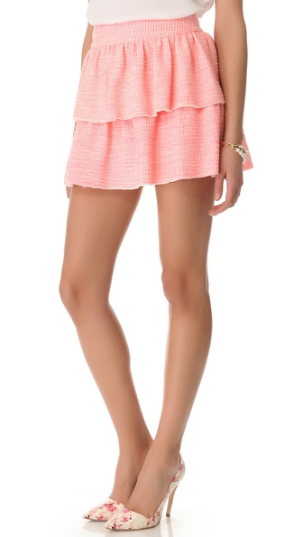 alice + olivia Double Layer Ruffle Skirt