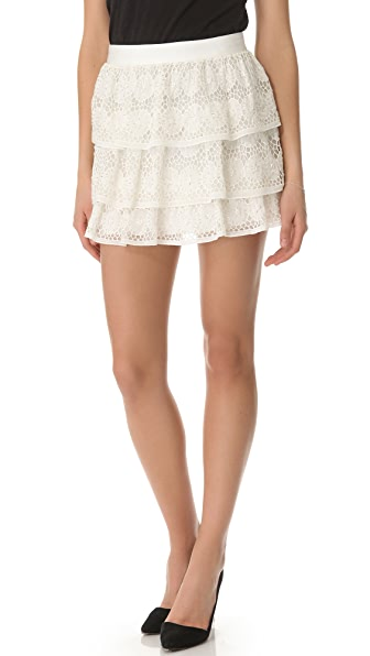 alice + olivia Crochet Ruffle Skirt