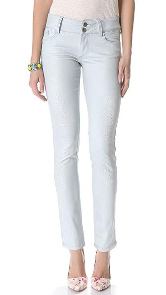 alice + olivia Indigo Bleach Skinny Jeans