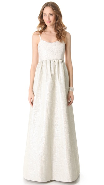 alice + olivia Sequin Bell Gown