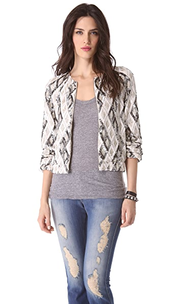 alice + olivia Raglan Embellished Jacket