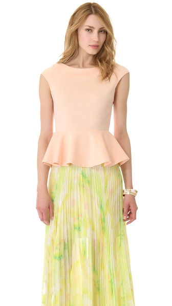 alice + olivia Regina Peplum Top