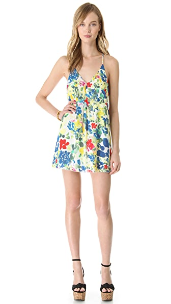 alice + olivia Fierra Y Back Printed Dress