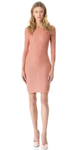 alice + olivia Sheer Back Fitted Dress