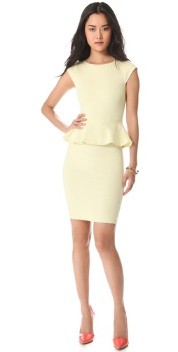 Shop alice + olivia Victoria Peplum Dress and alice + olivia online - Apparel,Womens,Dresses,Day_to_Night, online Store
