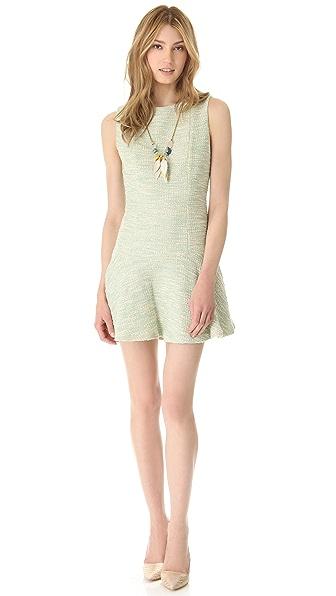 alice + olivia Drop Waist Boat Neck Dress